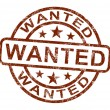 Wanted Stamp Shows Needed Required Or Seeking — Stock Photo #11222513