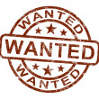 Wanted Stamp Shows Needed Required Or Seeking — Stock Photo