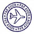 Par Avion Stamp Shows Correspondence Overseas By Plane — Stock Photo