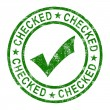 Checked Stamp With Tick Shows Quality And Excellence — Stock Photo