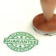 Guarantee Stamp Shows Assurance And Risk Free — Stock Photo