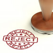 Stock Photo: Reject Stamp Showing Rejection Denied Or Refusal