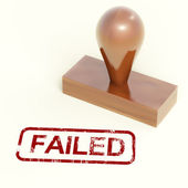 Failed Stamp Showing Reject And Failure — Stock Photo