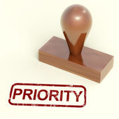 Priority Rubber Stamp Shows Urgent Rush Delivery — Stock Photo
