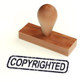 Copyrighted Rubber Stamp Showing Patent — Stock Photo