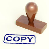 Copy Rubber Stamp Shows Duplicate Replicate Or Reproduce — Stock Photo