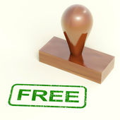 Free Rubber Stamp Showing Freebie and Promo — Stock Photo