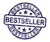 Bestseller stempel toont best beoordeelde of leider — Stockfoto