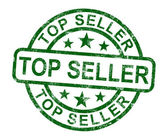 Top Seller Stamp Shows Best Services Or Products — Stock Photo