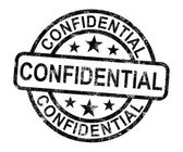 Confidential Stamp Shows Private Correspondence Or Documents — Stock Photo
