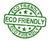 Eco friendly timbre comme symbole de recyclage — Photo