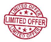 Oferta limitada estampilla muestra promoción del producto — Foto de Stock