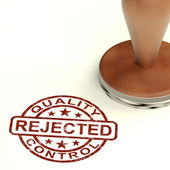 Rejected Stamp Showing Rejection Denied Or Refusal — Stock Photo