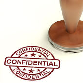 Confidential Stamp Showing Private Correspondence Or Documents — Stock Photo