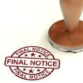 Final Notice Stamp Showing Outstanding Payment Due — Stock Photo