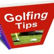 Stock Photo: Golfing Tips Book Shows Advice For Golfers
