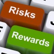 Risks Rewards Keys Show Payoff Or Roi — Stock Photo