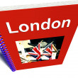 London Book For Tourists In England — Stock Photo