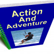 Action And Adventure Book Shows Extreme Exciting Sports — Stock Photo