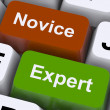Novice Expert Keys Show Amateur Or Professional — Stock Photo #11843259