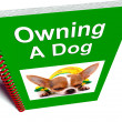 Stock Photo: Owning Dog Book Shows Canine Care Advice