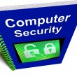 Computer Security Book Shows Internet Safety — Stock Photo
