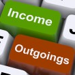Stock Photo: Income Outgoings Keys Show Budgeting And Bookkeeping