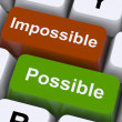 Foto de Stock  : Possible And Impossible Keys Show Optimism And Positivity