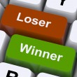 Loser Winner Keys Shows Risk And Chance — Stock Photo #11843435