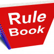 Stock Photo: Rule Book Policy Guide Manual