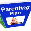Stock Photo: Parenting PlBook For Child's Education