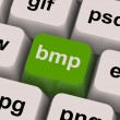 Bmp Key Shows Bitmap Format For Images - Stock Photo