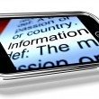 Information On Mobile Phone As Symbol For Online Knowledge - Stock Photo