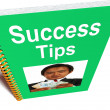 Success Tips Book Shows Wealth And Achievement — Stock fotografie