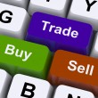 Stock Photo: Buy Trade And Sell Keys Represent Commerce Online