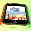 Cruise Ship Travel Picture Taken On Mobile Phone — Stock Photo