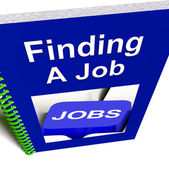 Finding A Job Book For Career Advice — Zdjęcie stockowe