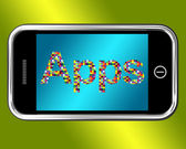 Mobile Phone Apps Smartphone Applications — Foto de Stock