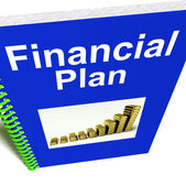 Financial Plan Report Shows Revenue Strategy — Stock Photo