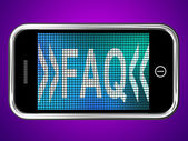 Faq Message On Mobile Phone For Help — Stock fotografie