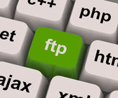 Ftp Key Shows File Transfer Protocol — Stock Photo