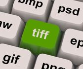 Tiff Key Shows Image Format For Tif Pictures — Stock Photo