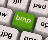 Bmp Key Shows Bitmap Format For Images — Stock Photo