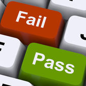 Pass Or Fail Keys To Show Exam Or Test Result — Stock Photo