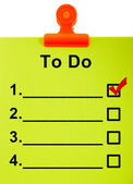 To Do List Clipboard For Organizing Tasks — Stock Photo