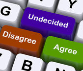 Disagree Agree Undecided Keys For Online Poll — Stock Photo