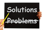 Solutions Not Problems Notice On Board — Stock Photo