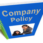 Company Policy Book Shows Rules For Employees — Stock Photo