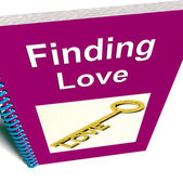 Finding Love Book Shows Relationship Advice — Stok fotoğraf