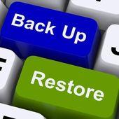 Back-up en herstel van sleutels voor gegevensbeveiliging — Stockfoto